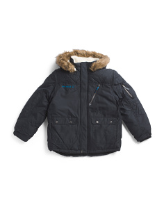 Big Boys Hooded Puffer Jacket