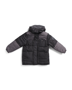 Little Boys Color Block Puffer Jacket