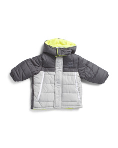 Infant Boys Color Block Puffer Jacket