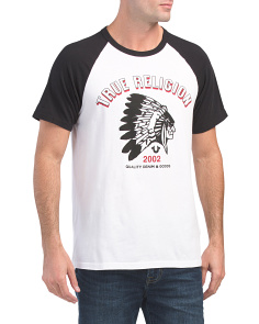 Feather Short Sleeve Raglan Tee