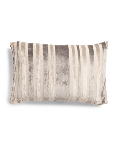 24x16 Grey Stripe Pillow