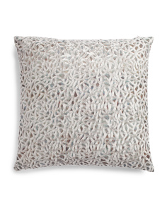 24x24 Scribble Printed Velvet Pillow