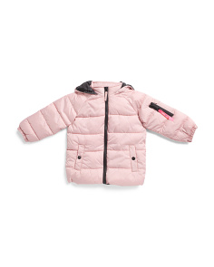 Toddler Girls Hooded Puffer Jacket