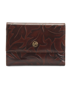 Made In Italy Embossed Leather Wallet