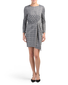Petite Long Sleeve Plaid Dress