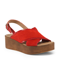 Made In Italy Platform Leather Sandals