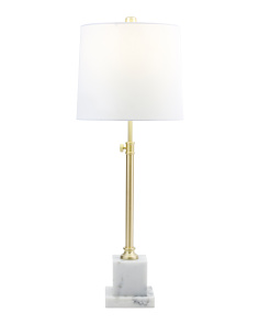 Metal & Marble Table Lamp