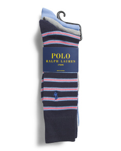 3pk Nautical Stripe Dress Socks