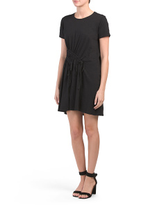 Made In Usa Ruched Tee Dress