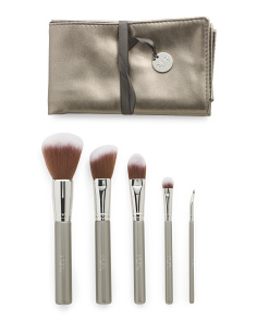 5pc Pro Tools Brush Set With Brush Roll