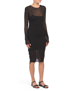 Mesh Cover-up Mini Dress