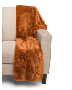 Reversible Faux Fur Throw