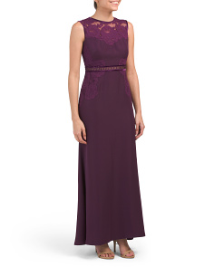 Petite Sleek Gown With Waist Detail