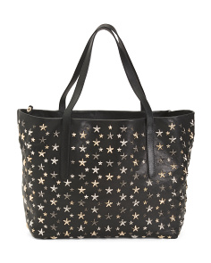 Made In Italy Leather Star Bag