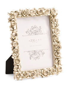 5x7 Rose With Crystal Photo Frame