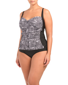 Plus Snake Print Tankini Set