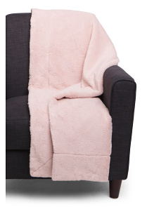 Shimmer Faux Rabbit Fur Throw