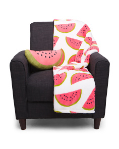 Willy Watermelon Pillow & Throw Set