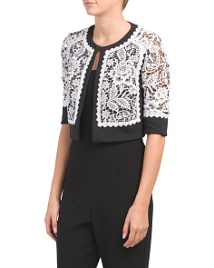 Short Sleeve Lace Jacket