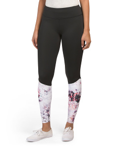 Floral Printed Color Block Leggings