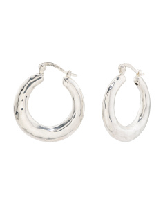 Made In Thailand Sterling Silver Hoop Earrings