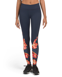 Floral Printed Colorblock Leggings