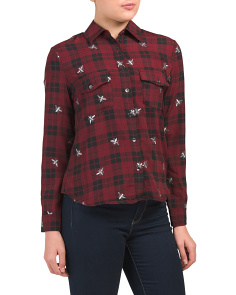 Button Down Embroidered Bug Shirt