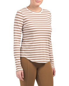 Little Boy Striped Crew Neck Top