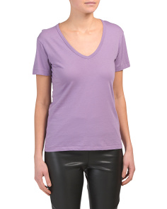 V-neck Pima Cotton Tee