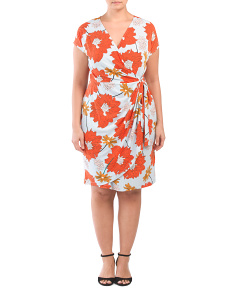 Plus Stem Bloom Wrap Dress
