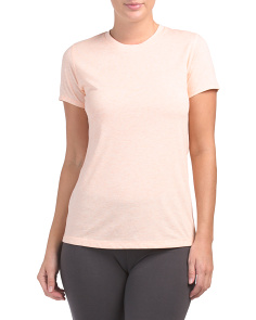 Heather Tech Crew Neck Top