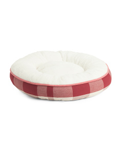 Plaid Pet Snuggle Bed