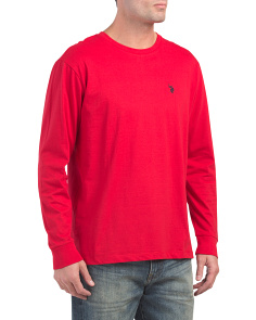 Long Sleeve Solid Crew Neck Tee