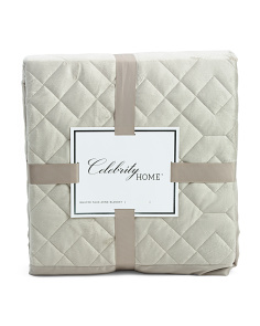Halstead Faux Mink Quilted Blanket