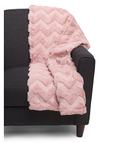 Brushed Faux Fur Quilted Throw
