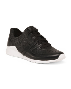 Lace Up Leather Comfort Sneakers