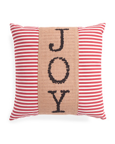 20x20 Striped Joy Pillow