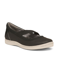 Slip On Comfort Leather Walking Sneakers