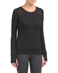 Missy Long Sleeve Mesh Top
