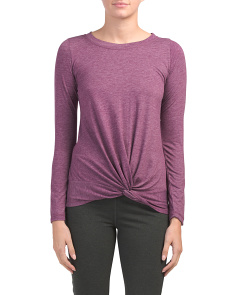 Twisted Front Long Sleeve Top