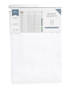 38x84 Set Of 2 Embroidered Anne Sheer Curtains