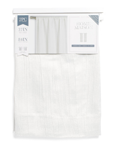 37x84 Set Of 2 Textured Linen Look Curtains