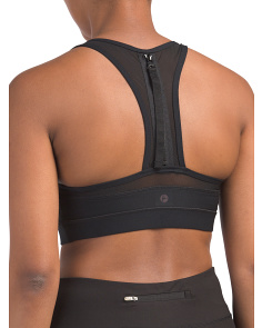 Missy Bra Top With Zipper Detail