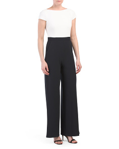 Flutter Sleeve Jumpsuit With Contrast Waist
