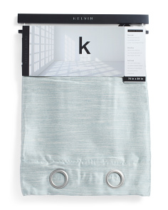Set Of 2 Blackout Linen Look Curtains