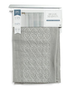 37x84 Set Of 2 Naomi Sheer Curtains
