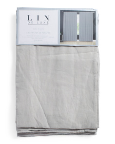 50x96 Set Of 2 Linen Luxury Curtains