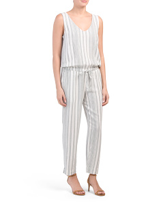 Tank Jumpsuit With Tie Back