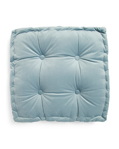 Tufted Velvet Floor Cushion