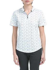 Golf Short Sleeve Circle Print Polo